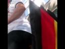 Немец сделал своими руками флаг из трусов