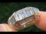 Men's Cartier Diamond &amp Solid 18K Gold Ring -GIA CERTIFIED Top Quality VSG Diamonds