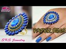 How to make Bridal paper ring Party wear DIY SKS Jewelry 37