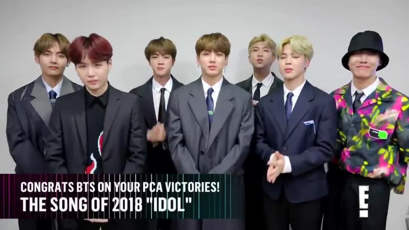 E! News - Congratulations to BTS for winning Music Group of 2018 at the PCAs.