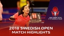 Mima Ito vs Zhang Qiang I 2018 ITTF Swedish Open Highlights R32