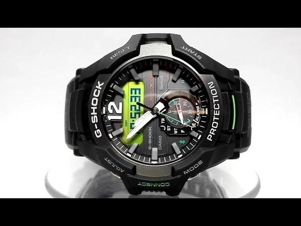 Casio G-Shock GR-B100-1A3 Gravitymaster Bluetooth Solar powered watch video 2018