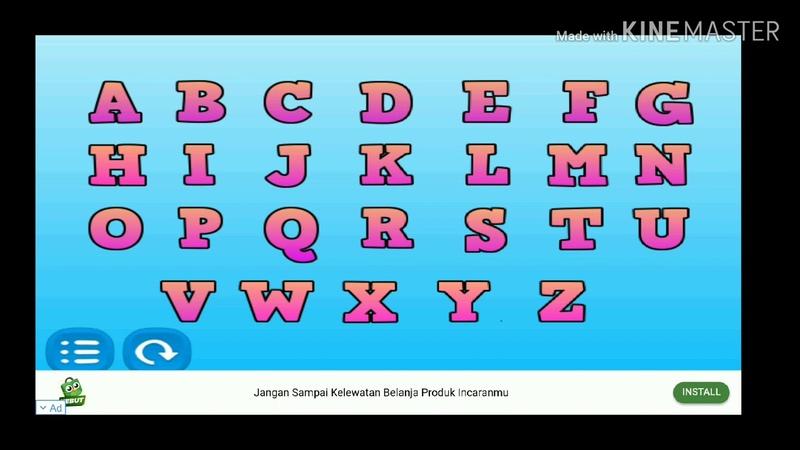 Belajar huruf abjad anak - balita - paud