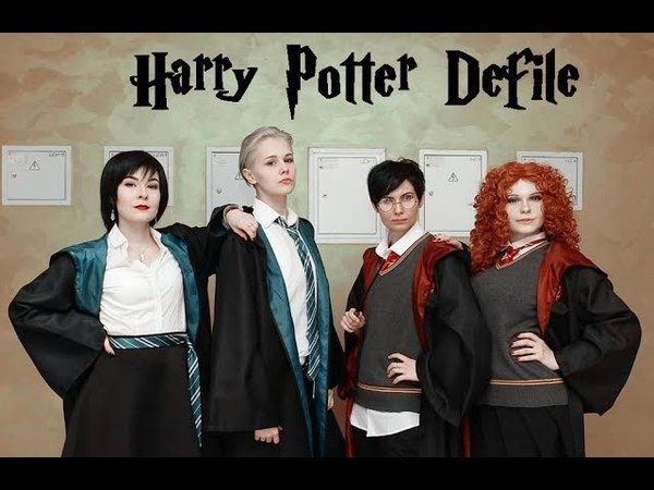 Harry Potter Defile - Harry Potter, Draco Malfoy, Ginny Weasley, Pansy Parkinson