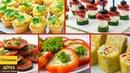 5 легких закусок для фуршета на День рождения Часть 2 🍢🍢🍢 Вкусно Просто и Легко