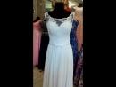 Свадебное платье из лёгкого шифона , белое, размер 46-48