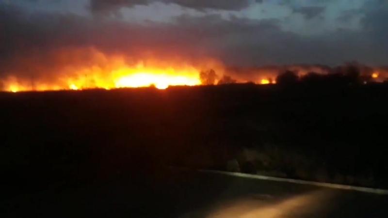 Пожар в микрорайоне Южный в Каменске-Уральском.
