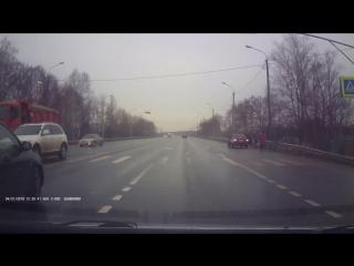 Авария с полицейской машиной