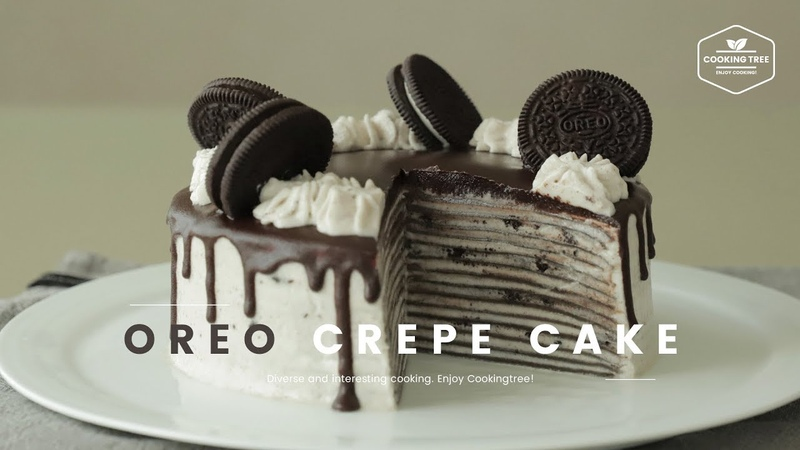 Oreo Crepe Cake Recipe - Cooking tree