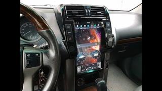 Магнитола для Тойота Прадо 150 в стиле Тесла Экран 13,3