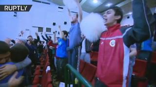 Реакция болельщиков на победу Хабиба против Конора.