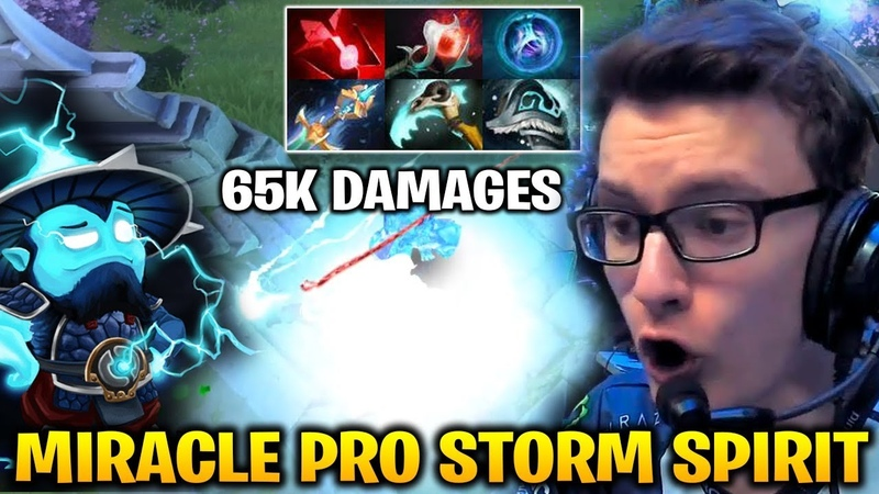 Miracle Showing Off with Storm Spirit 65K Total Damages Dota 2