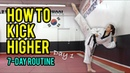 How to Kick Higher Stretches Drills Day 1 Routine