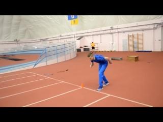 Челночный бег 10х10 метров. Техника выполнения, тренировка (1)