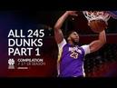 Anthony Davis All 245 dunks of the 2017 18 season Part 1