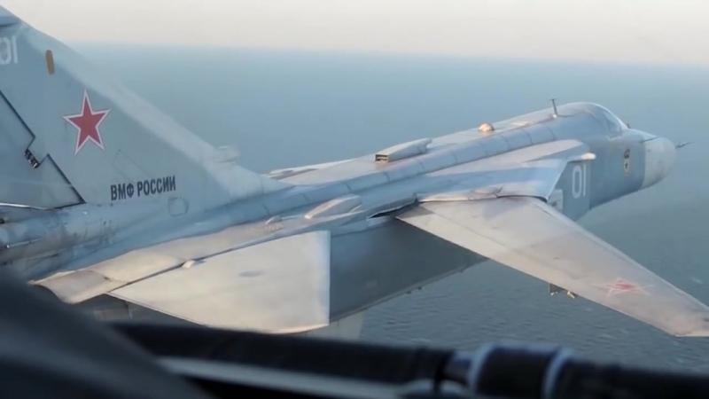 Учебно-тренировочные полеты пилотов морской авиации Балтийского флота