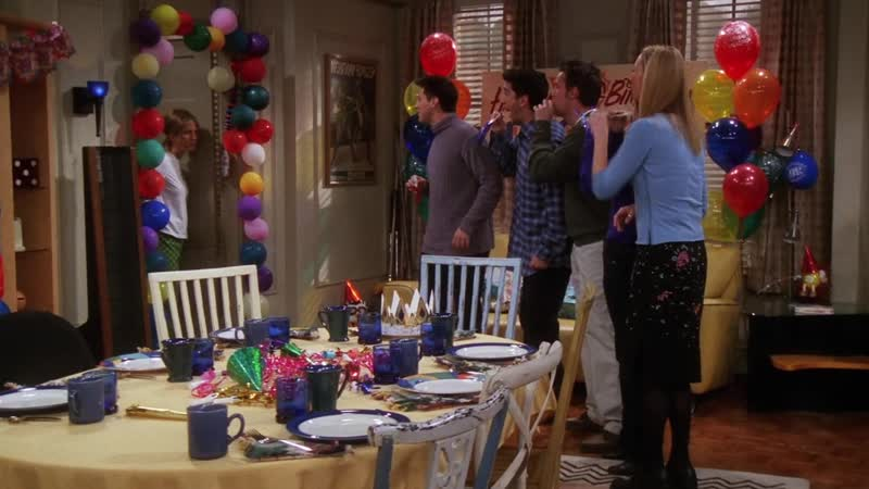 Реакция Рэйчел на свой день рождения