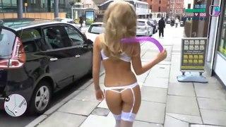 GTA В Реальной Жизни. Sexy Версия. Голые Блондинки, чулки, сексуальные ножки
