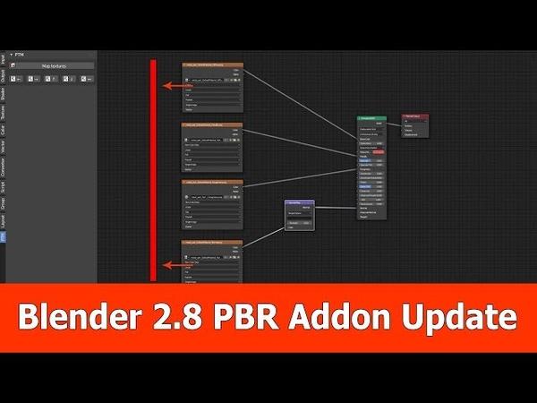 Blender 2.8 PBR Node Addon Update