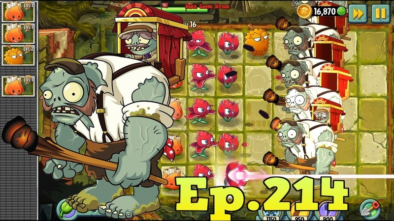 Plants vs. Zombies 2 || Massive Attack - Porter Gargantuar - Lost City Day 16 (Ep.214)