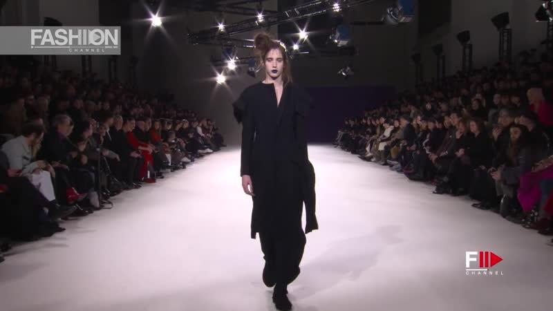 YOHJI YAMAMOTO Fall 2019 Paris - Fashion Channel
