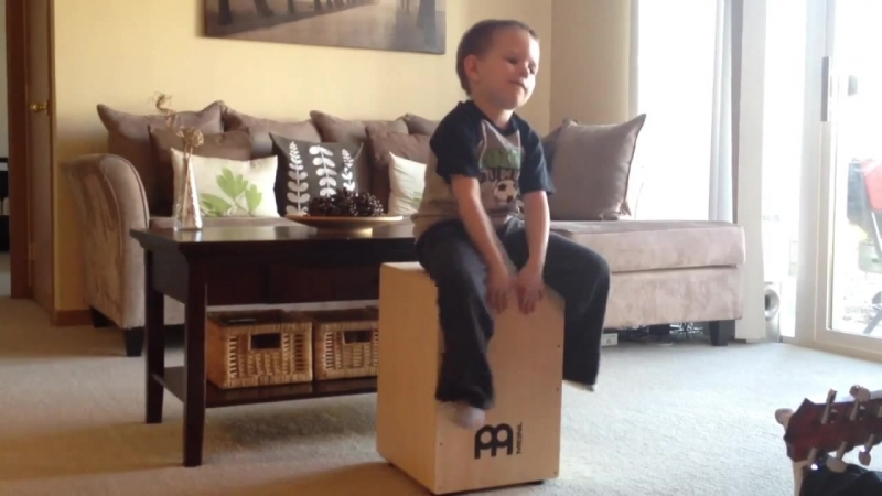 5 Year Old Cajon Player