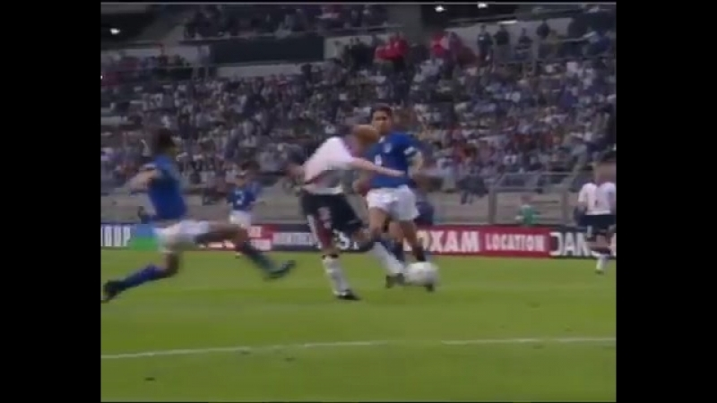 Иан Райт - гол в ворота сборной Италии с паса Пола Скоулза