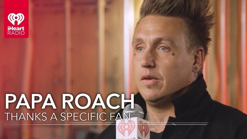 Papa Roach Gives Heartwarming Thank You To Two Fans | 2018 iHeartRadio Music Awards