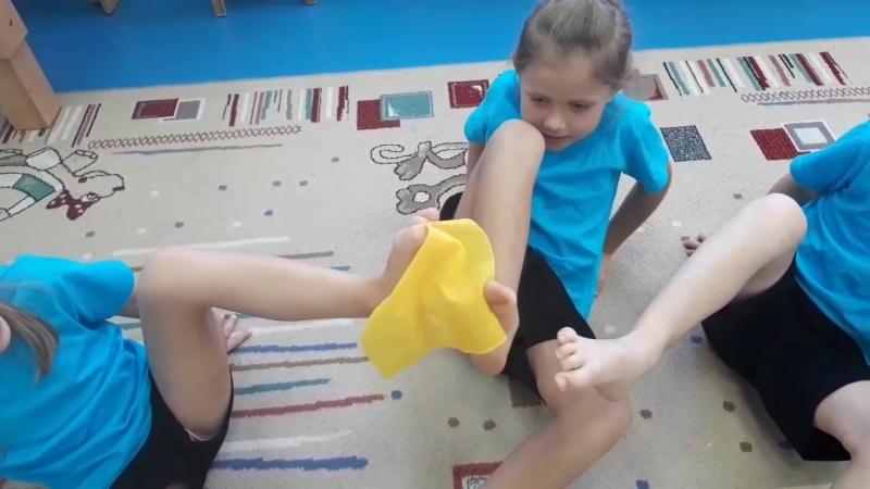 Игра на укрепление мышц стоп Путешествие платочка