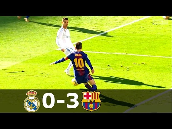 Real Madrid vs Barcelona 0-3 - La Liga 20172018 - Full Highlgihts (English Commentary) HD 1080i