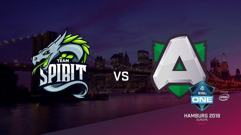 Team Spirit vs Alliance, ESL Closed Quals EU, bo3, game 2 [Maelstorm LighTofHeaveN]