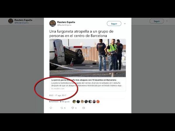 Quienes sabían con antelación que iba a haber un atropello en BCN, twiteers Rajoy y Ada Colau - YouTube