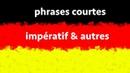 Phrases courtes en allemand examples de l'impératif allemand et autres phrases courtes
