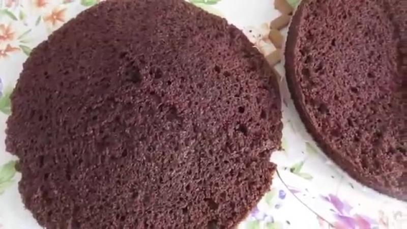 Торт Черный принц. Шоколадный торт с белым кремом.Торт на кефире
