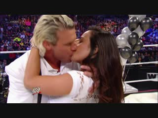 WWE Monday Night Raw 31st December 2012 - John Cena wished Dolph Zigler and AJ Lee Happy New Year