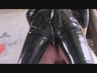 Mistress in latex fuck guy [ mistress leather femdom anal facesitting strap on latex fetish bdsm bondage hardcore]