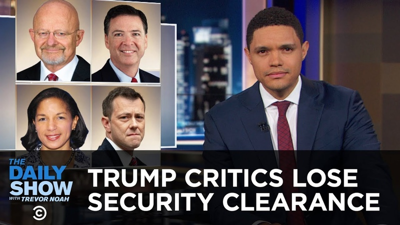 Trump's Critics Lose Their Security Clearance A TSA Agent Busts a Move   The Daily Show