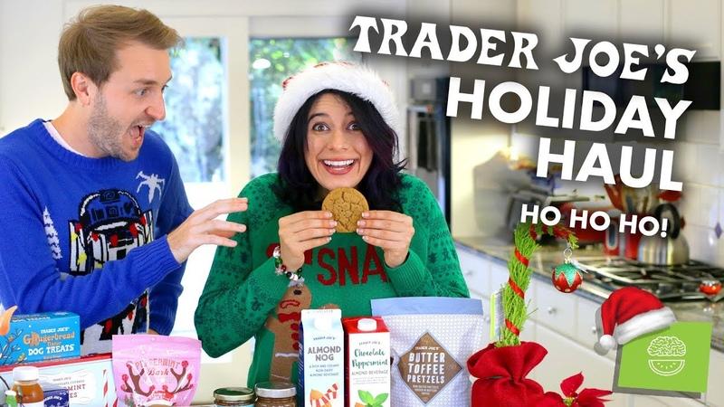 Trader Joes HOLIDAY FOOD Haul Taste Test!