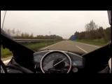 Yamaha R1 vs Mercedes-Benz C 63 AMG 300km/h