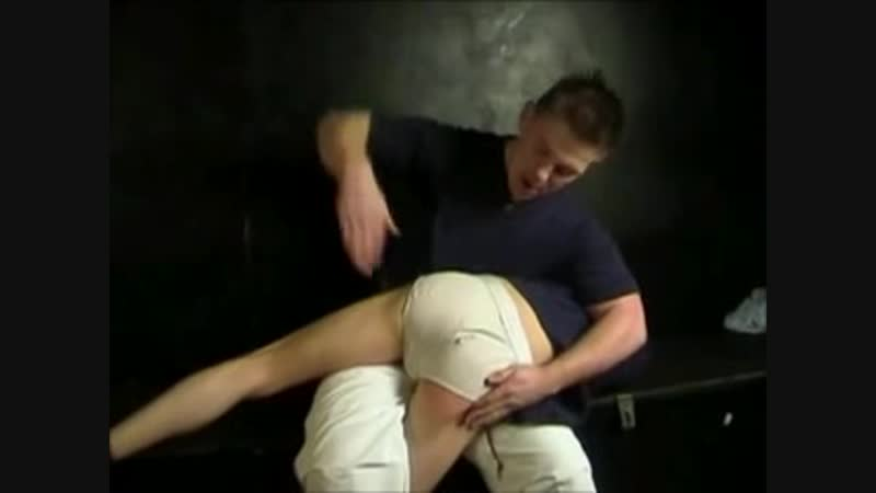 Disobedient boy spanked hard and bare