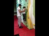 Скалодром для Даши (5 лет). Тренер - Громашёв Александр