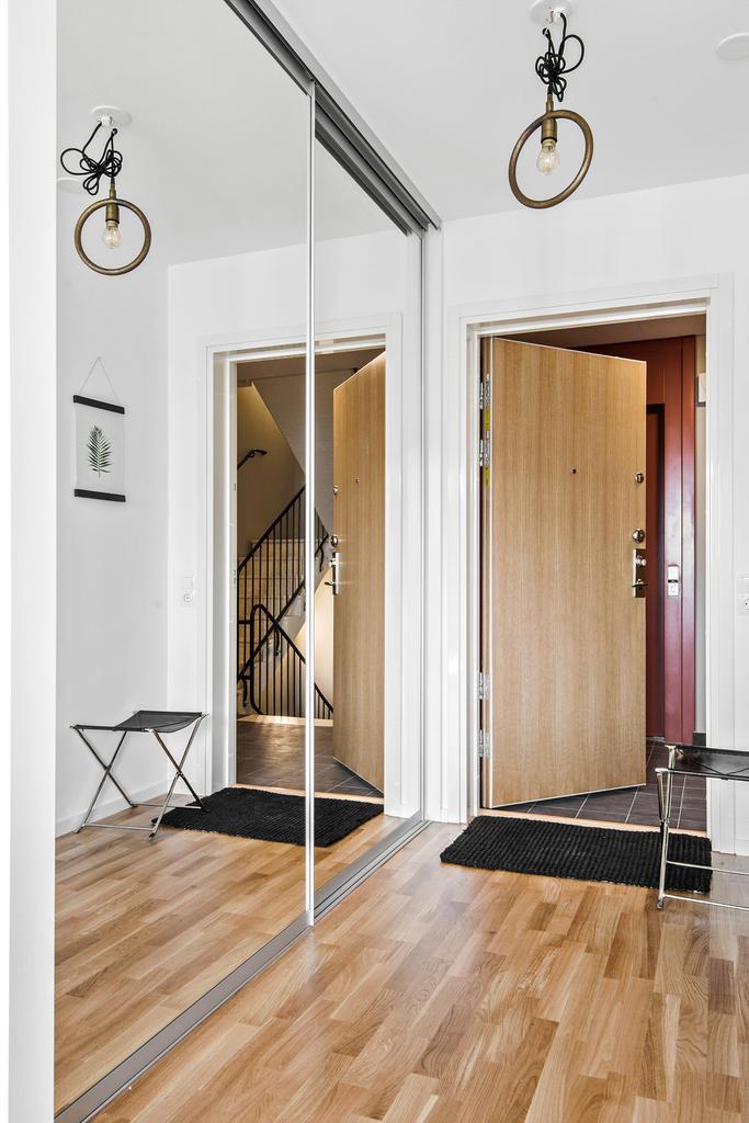 Интерьер квартиры-студии 35 м в Швеции.