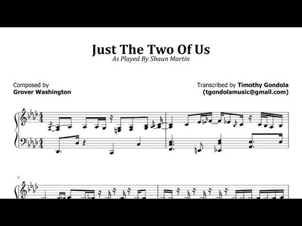 Shaun Martin Just The 2 Of Us Spectrasonics Transcription