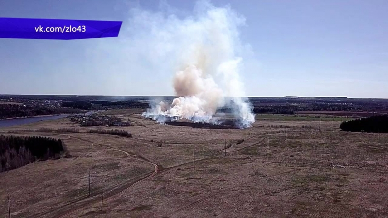 Сводка. Сгорела школа в Малмыжском районе