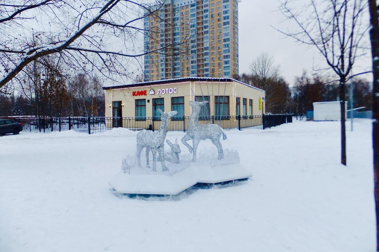 Алтуфьевский район украсили к Новому году новыми световыми композициями