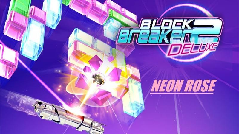 Block Breaker Deluxe 2 - Walkthrough (Neon Rose) 1 (Java Mobile Game)