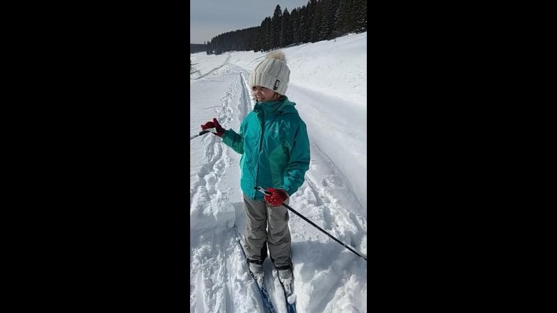 Ленуська и лыжи 21.03.2018