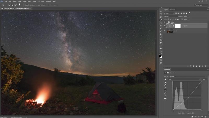 Как обработать ночной пейзаж в фотошопе