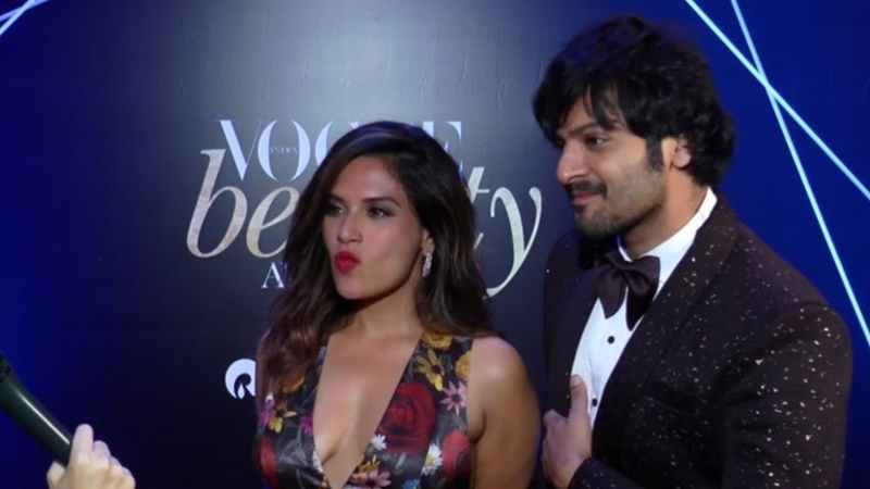 Hot Richa Chadha and Ali Fazal at the Vogue Beauty Awards 2018