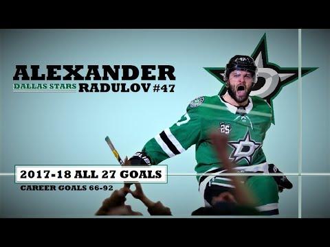 Alexander Radulov (47) ● ALL 27 Goals 2017-18 Season (HD)